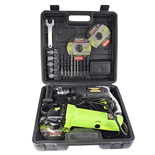 FMOGE Household Power Tools Drill Set,Cordless Hammer Drill Tool Kit with Claw Hammer Wrenches Pliers DIY Accessories Tool Kit,Hand Tool Sets