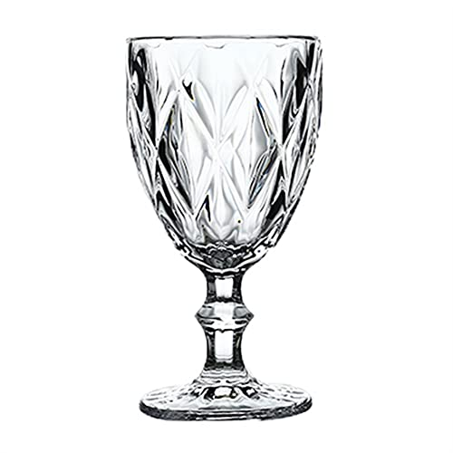 Whyzb Crystal Copa de Vino Copas de champán Copa de Whisky Partido de Coctel de la Boda de Barra de Copas Copas de Cocina Taza de Jugo de Bebida (Color : 7, Size : 300ml)