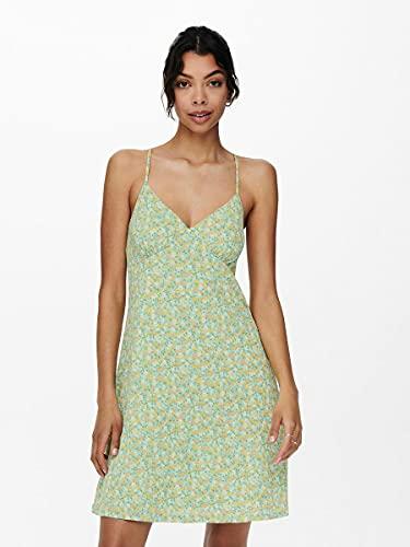 Only ONLPELLA S/L Strap Dress JRS Vestido, Surf Spray, M para Mujer