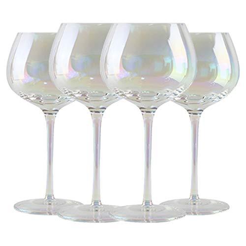 Calabaza Deslumbrante Copa De Vino Arcoíris Cristal Hecho A Mano Copa De Vino Tinto Copa De Vino Dulce De 450 Ml Esencial para Cenas (Color : Clear, Size : 9 * 20cm*4)