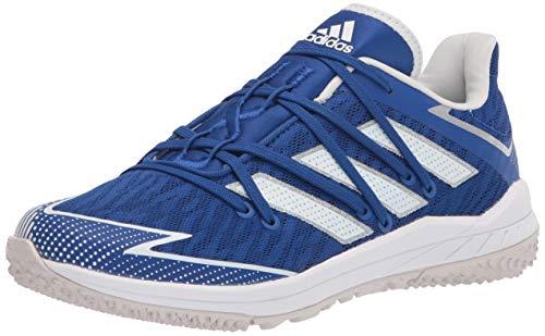 adidas Men's FV9414 Baseball Shoe, Royal Blue/White/Grey, 7.5