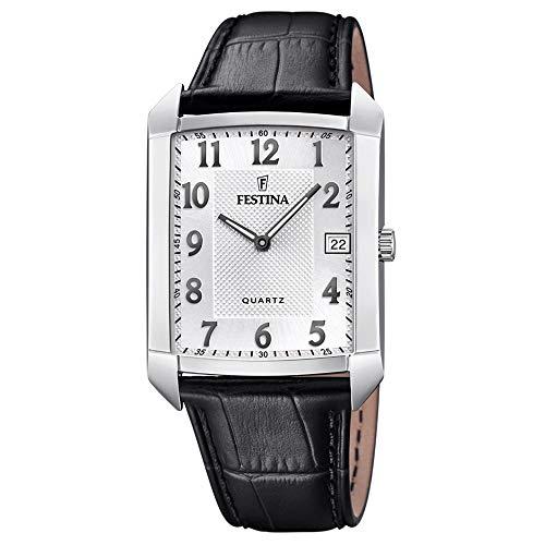 Festina Herren Analog Quarz Uhr mit Leder Armband F20464/1