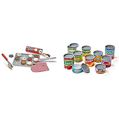 """Melissa & Doug Slice-and-Bake Wooden Cookie Play Food Set, Pretend Play, Materials, 28 Pieces, 10.5"""" H x 13.5"""" W x 3.25"""" L from"""