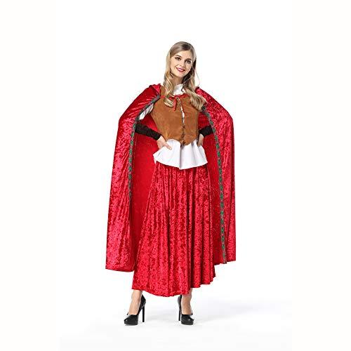 OLKWG Disfraz De Caperucita Roja Halloween Caperucita Roja Sexy Disfraz De Cosplay,L