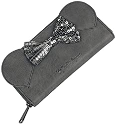 Minnie Mouse Sequin Bow Black Wallet
