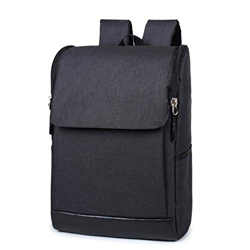 Casual Couple Backpacks Durable Oxford Large Capacity Travel Laptop Backpacks Black