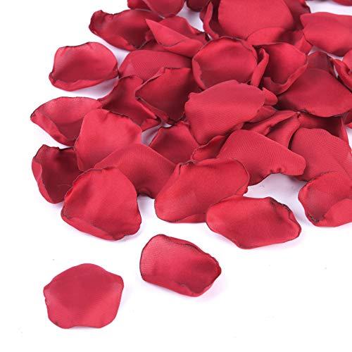 Silk Rose Petals 300pcs Flower Petals Flower Girl Scatter Petals for Wedding Table Centerpieces Aisle Party Dinner Table Decoration