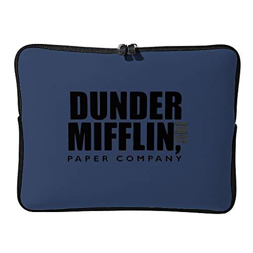 Dunder Office Mifflin - Funda para portátil (ampliable), diseño de letras negras