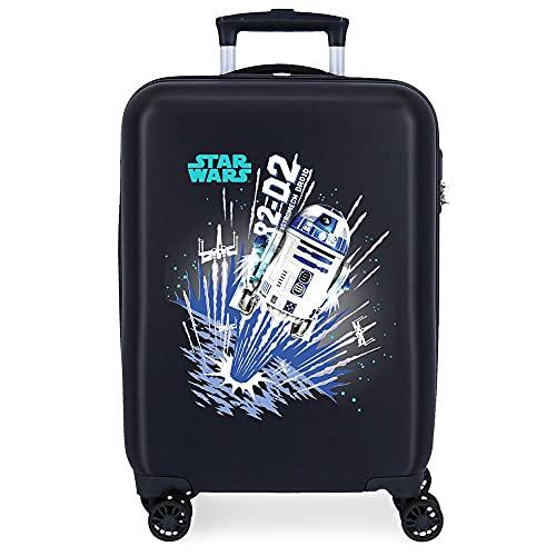 Star Wars Droids Maleta de Cabina Azul 38x55x20 cms Rígida ABS Cierre de combinación Lateral 34 2 kgs 4 Ruedas Dobles Equipaje de Mano