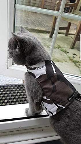Mynwood Cat Jacket Geschirr, Camouflage-Stoffe für Kätzchen oder ausgewachsene Katzen (arktische Tarnung, ausgewachsene Katze)