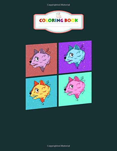 Coloring Book: cat faces colorful blocks gift idea - For Kids Aged 2-8 100 pages 8.5x11 inches
