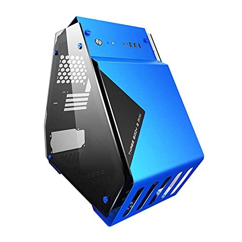 KDR Caja Gaming ATX Vidrio Templado de Doble Cara, Ventilador de 9 × 120 Mm, Compatible con M-ATX/ATX, 8 × PCI-E