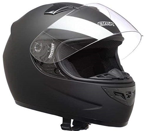 AMX, casco moto integrale indianapolis nero opaco, L