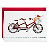 Hallmark Signature Love Card, Anniversary Card, Romantic Birthday Card (Tandem Bike)