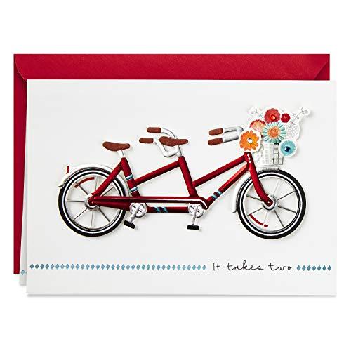 Hallmark Cartão de amor de assinatura, cartão de aniversário, cartão romântico de aniversário (bicicleta de andem)