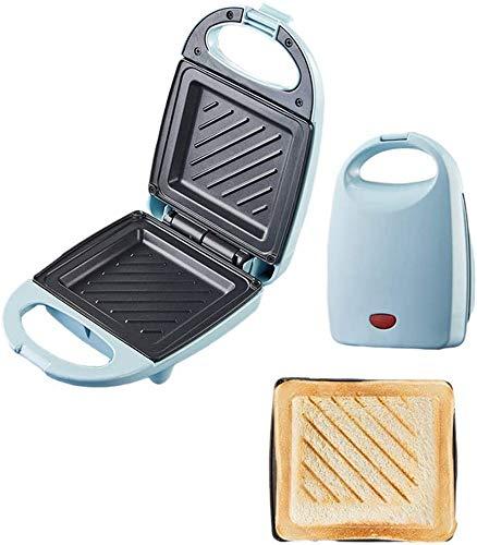 ZSMLB Tostadora para sándwiches, Mini Cake Maker 520W Waffle Maker Press Grill, Máquina para Hacer sándwiches Platos de Revestimiento Antiadherente Profundo, Control automático de Temperatura, B