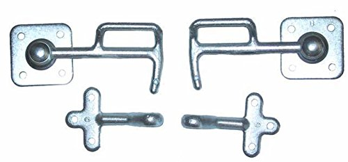 AVB 1 Satz Anhänger Klappen Verriegelung Stahl Links/Rechts 120mm