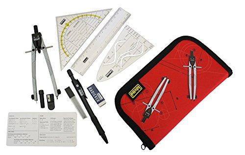 Idena 606220 Ensemble compas/outils de géométrie 11 pièces