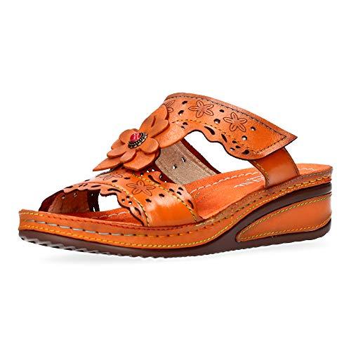 Laura Vita Jacdiso 05 - Sandalias para mujer, color Naranja, talla 42 EU