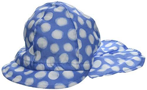 maximo Mädchen Schildmütze Mütze, Blau (Blaues Azur-Weiß-Punkte 40), 53
