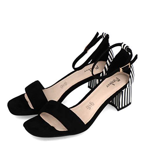 Menbur Blessano Sandalen/Sandaletten Damen Schwarz/Weiss - 36 - Sandalen/Sandaletten Shoes