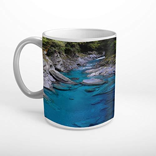Stufffactory Fluss Felsen Neuseeland Tasse Spruch Motiv Fototasse T1826
