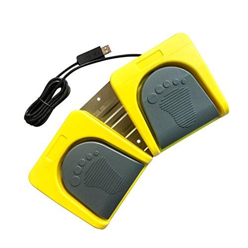 D DOLITY Control de Pedal para PC Interruptor de Pedal de Pie...