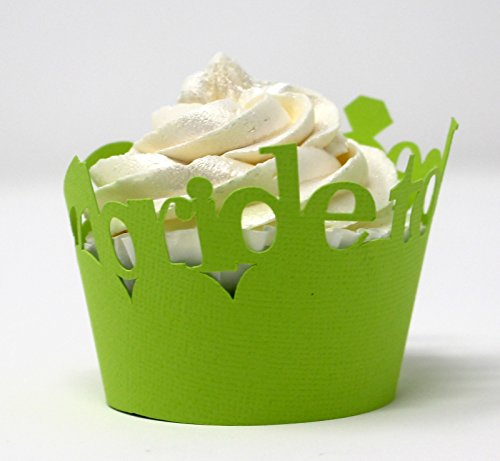 All About Details Bride-to-be Cupcake Wrappers, Set of 12 (Lime Green)