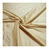 Stoff am Stück Stoff Polyester Crash Kleidertaft vanille