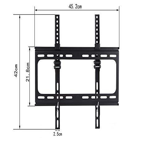 Alaskaprint TV Wandhalterung Neigbar für 23-60 Zoll LED LCD OLED Plasma Flach & Curved Monitor & Fernseher Wandhalterung Neigbare TV Halterung bis zu 50Kg, Max.VESA 400x400mm