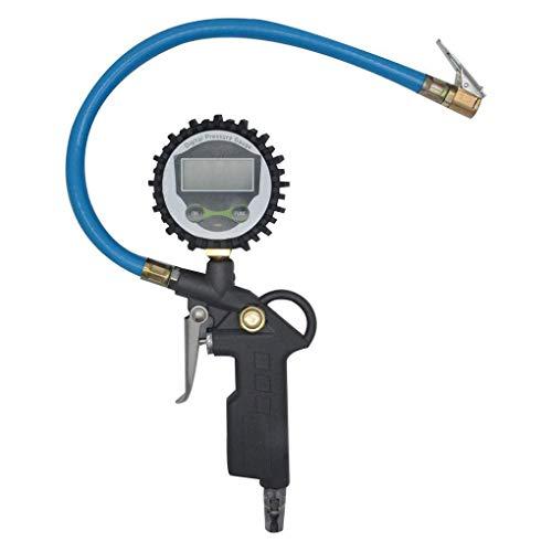 rongweiwang Pantalla Digital de presión de Aire del neumático de Coche para inflar con Aire del LCD Sensor de Pantalla Indicador de aleación de Aluminio LCD del vehículo probador del Sensor inflación