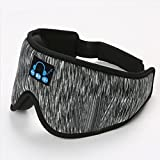 WSZMD Auriculares para Dormir Bluetooth Eye Mask, Upgraded 3D Contoured Sleep Headphones Sleep Mask,Music Sleeping Headphones Wireless 5.0 Handsfree Bluetooth Blindfold,Gray