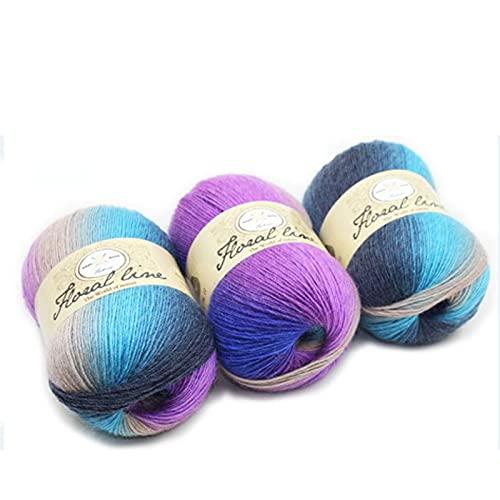 BerYaoYao Lana prémium ovillos,Hilo para Tejer,Paquete de Lana de Hilo para Crochet Suave para...