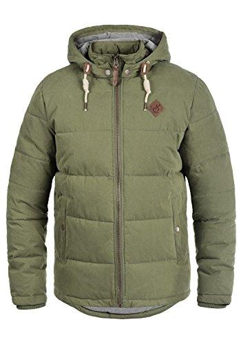 !Solid Dry Herren Jacke Steppjacke Winterjacke gefüttert mit Kapuze, Größe:S, Farbe:Ivy Green (3797)