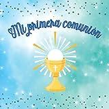 Libro de firmas y huellas mi primera comunion: Libro de recuerdos comunión con árbol de huellas personalizado - Regalo o detalle comunión niño. Español