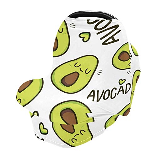 Nursing Cover Breastfeeding Scarf Avocado- Baby Car Seat Covers, Stroller Cover, Carseat Canopy (k9)