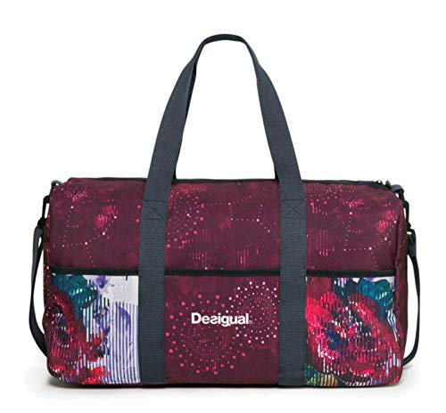 Tasche Desigual 17WXRW25 Schalen Gym Bag Night Garden 3037 Rojo AB
