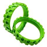 MEROM Llantas Robot de Limpieza Antideslizante Firma Durable Usable para IROBOT ROOMBA Series 500 600 700 800 900 Dos Neumáticos por Paquete Fácil de Reemplazar (Verde)