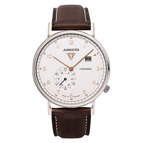 Junkers Herren Analog Quarz Uhr mit Leder Armband 67304