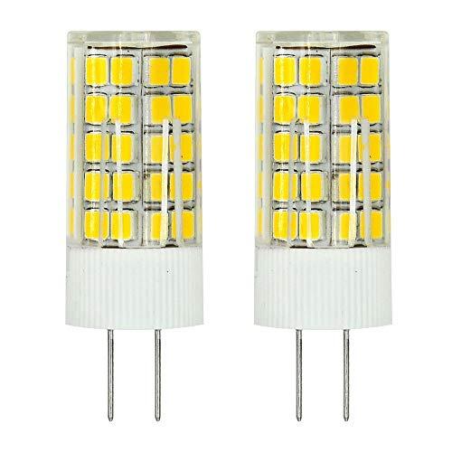 MENGS Pack de 2 Bombilla lámpara LED G4 6W, Blanco Cálido 3000K, AC/DC 12V