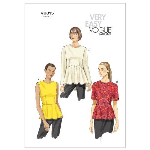 VOGUE PATTERNS V8815 - Patrones de Costura para Blusas de Mujer (Tallas 36 a 44)