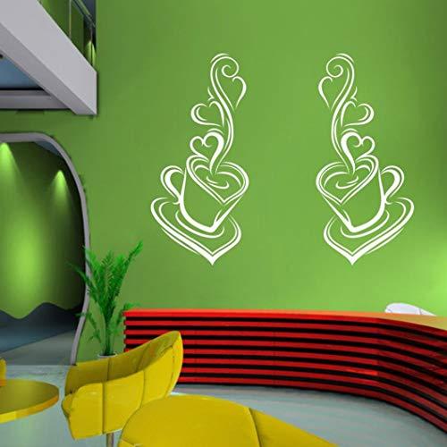 Ogquaton - Adhesivo decorativo para pared, diseño de casa, color blanco
