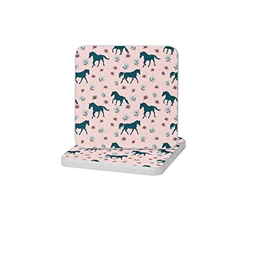 2 posavasos cuadrados de diatomita para decoración del hogar, alfombrillas antideslizantes para bebidas, soporte de cepillo de dientes, bandeja de jabón para baño y cocina, caballo azul en ros