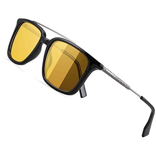 Gafas De Sol Polarizadas para Hombre, Visión Nocturna HD Gafas Polarizadas De Protección Uv400 ProtectorÍa para ConducciÓn Black