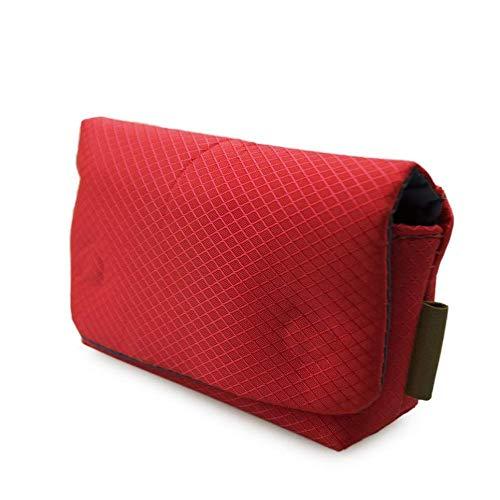 WOIA Bolso de la cámara del Bolso portátil Impermeable Insertar el Bolsillo de Almacenamiento para Sony Rx100, Rojo