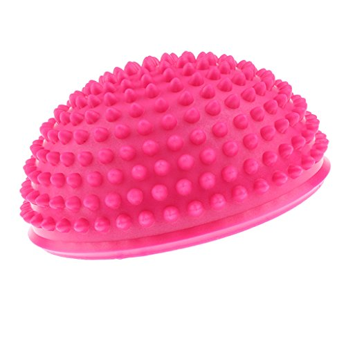 lahomia Yoga Aerobics Balance Exercise Ball Hedgehog Styled Balance Pod Fitness - Pink, Diameter: 16cm