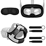 Fromsky Oculus Quest Accessory Set Kit, Knuckle Strap & Lens Protect Cover & Silicone Face Cover Mask & Head Strap Pad for Oculus Quest VR Accessories Bundle (4-Piece Pack)