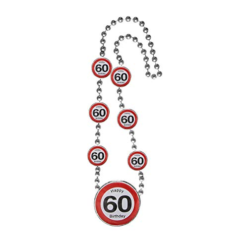 MCK Austria Design Cumpleaos  Collar con seales de trfico  Decoracin para fiesta de 60 cumpleaos
