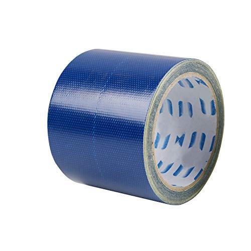 MSYG Cinta de reparación de lona para camión, impermeable, cinta adhesiva de tela para toldo de linóleo, cinta de reparación de parches para exteriores, cinta impermeable (5 m)