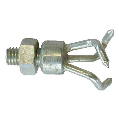 Dreizink-Kralle für Rohrreinigungsspiralen mit Gewindekupplung